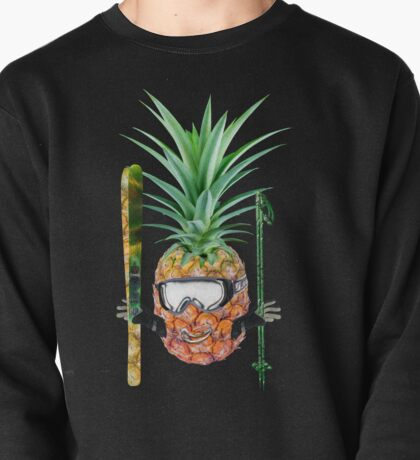 Smiling pineapple-downhill skier Pullover