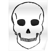 Large Skull Stetch (Black Outline) Poster