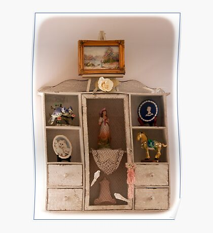 Rustic Display Cabinet Poster