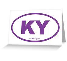 Kentucky KY Euro Oval PURPLE Greeting Card