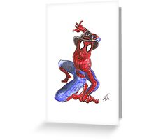 Firefighter Spider-Man Greeting Card