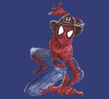 Firefighter Spider-Man by ceruleanmocha
