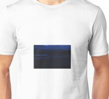 Waves At Watergate Bay In Blue Unisex T-Shirt