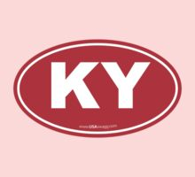 Kentucky KY Euro Oval RED Kids Clothes