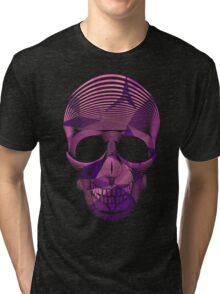 Pinky Skool Skull Tri-blend T-Shirt