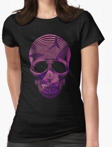Pinky Skool Skull Womens Fitted T-Shirt