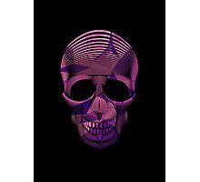 Pinky Skool Skull Photographic Print
