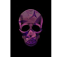 Pinky Skool Skull Photographic Print