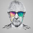 Albert Hofmann - Psychedelic Polygon Crystalised Portrait by badbugs