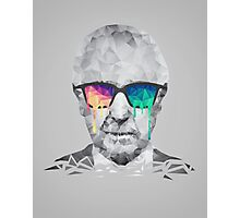 Albert Hofmann - Psychedelic Polygon Crystalised Portrait Photographic Print