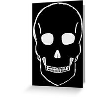 Small Skull Sketch (White Outline) Greeting Card