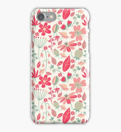 Cute Floral Pattern iPhone Case/Skin
