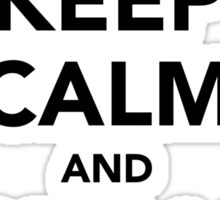 Keep calm and podcast on (black) Sticker
