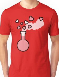 Pink Love Magic Potion in Laboratory Flask Unisex T-Shirt