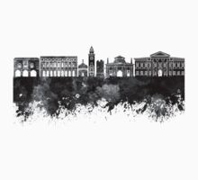 Bergamo skyline in watercolor background Kids Tee
