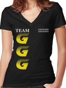 Team GGG Women's Fitted V-Neck T-Shirt