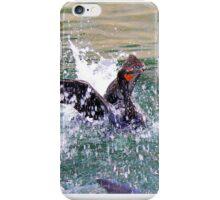 Cormorant Feeding  iPhone Case/Skin
