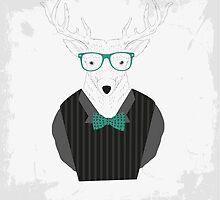 Hipster Style Deer by Yevhenii Korchak
