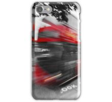 Red double-decker bus on the street of London.  iPhone Case/Skin