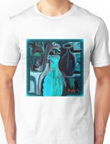 BLUE ABSTRACT POTTERY Unisex T-Shirt