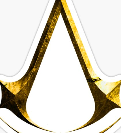Assassin's Creed Gold Logo Sticker