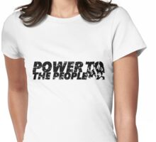 POWER TO THE PEOPLE Womens Fitted T-Shirt