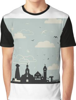 Birds over a city Graphic T-Shirt