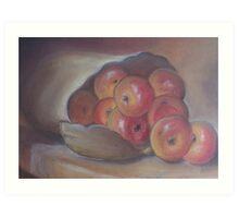 Red apples in a bag Art Print