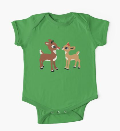 Classic Rudolph and Clarice One Piece - Short Sleeve
