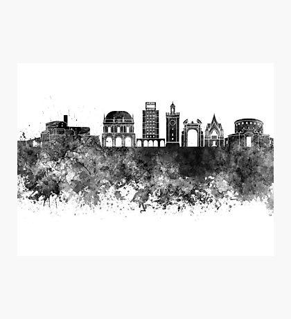 Brescia skyline in watercolor background Photographic Print