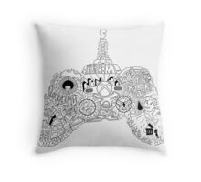 Controller Collage Throw Pillow