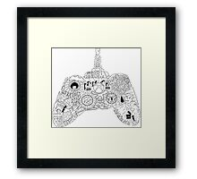 Controller Collage Framed Print