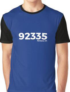 Fontana, California Zip Code 92335 Graphic T-Shirt