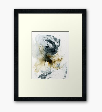 Grey and yellow abstract  Framed Print