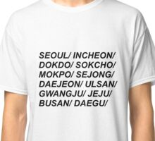 South Korean Cities Classic T-Shirt