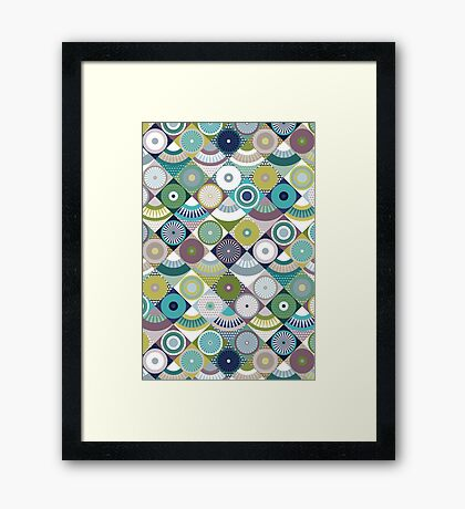 scales and pearls Framed Print