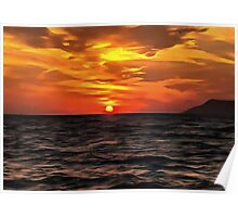 Sunset Over The Mediterranean Sea Poster