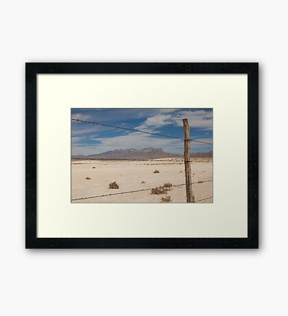 White Sands barbed wire Framed Print