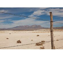 White Sands barbed wire Photographic Print