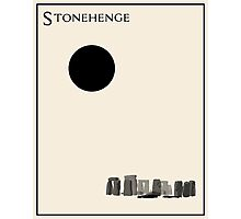 Stonehenge Minimalist Travel Poster - Beige Version Photographic Print