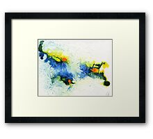 Yellow, blue and green abstract  Framed Print