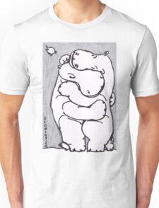 Hippo Hug - Original Drawing Unisex T-Shirt