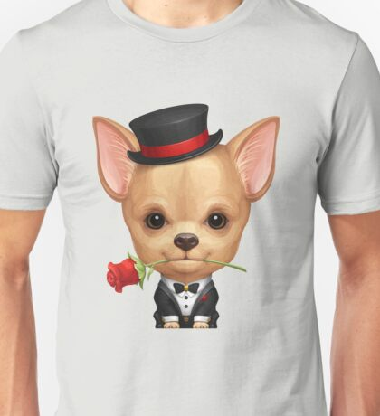 Chihuahua in the Guise of a Gentleman 	 Unisex T-Shirt