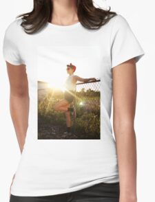 50s at Sunset Womens Fitted T-Shirt