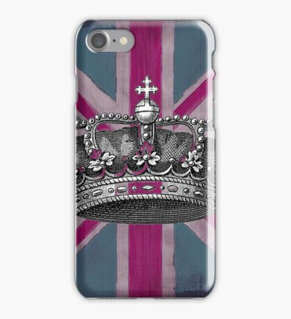 Union Jack and Crown iPhone Case/Skin