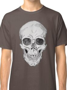 Frontal Skull Anatomical Drawing Classic T-Shirt