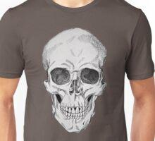 Frontal Skull Anatomical Drawing Unisex T-Shirt