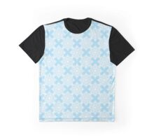 White, snowflakes,  blue, background, seamless, pattern Graphic T-Shirt