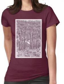 Road in forest Womens Fitted T-Shirt