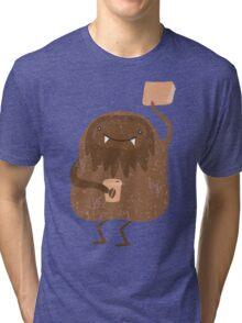 I read and drink coffee yeti Tri-blend T-Shirt